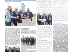 La Gazette du VAR décembre 2017 -- posde la première pierre du gymnase du collège François de Leusse à la LONDE
