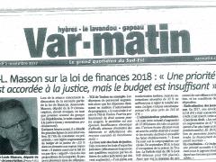 Var-MATIN - la Loi de Finance 2018